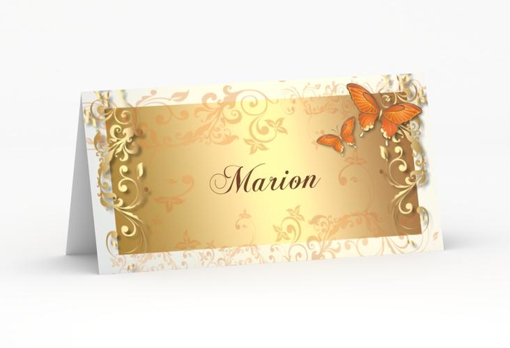 """Tischkarte Hochzeit """"Toulouse"""" Tischkarten orange"""