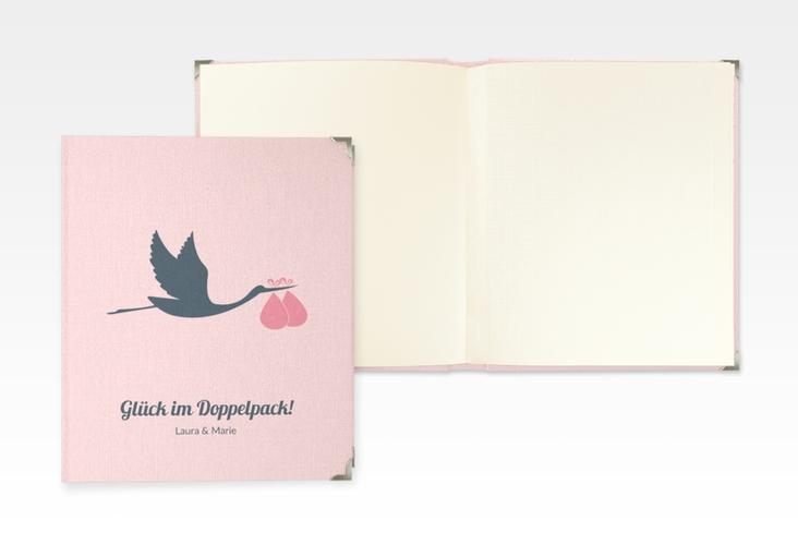 """Baby Fotoalbum """"Doppelpack"""" 21 x 25 cm rosa"""