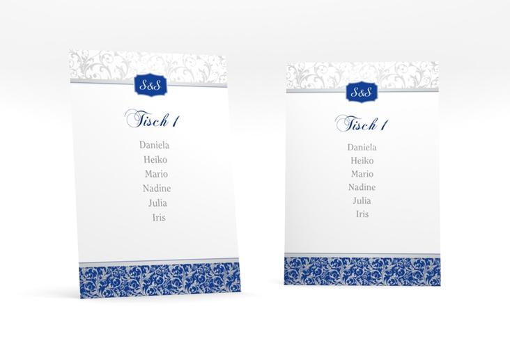 """Tischaufsteller Hochzeit """"Latina"""" Tischaufsteller blau"""