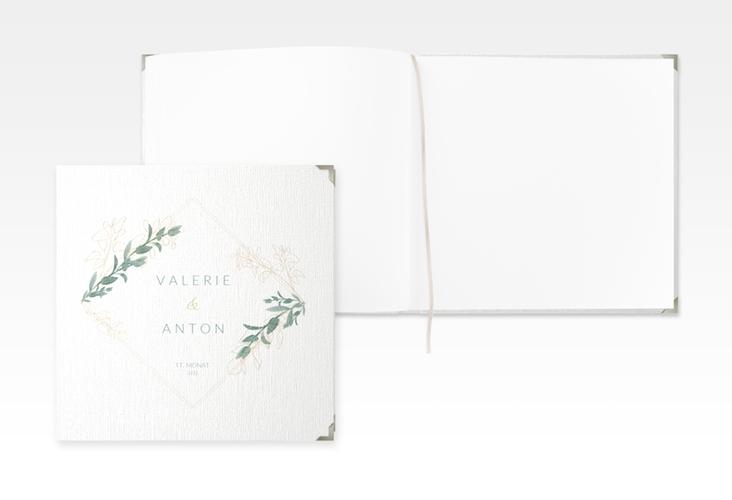 "Gästebuch Selection Hochzeit ""Verde"" Leinen-Hardcover weiss"