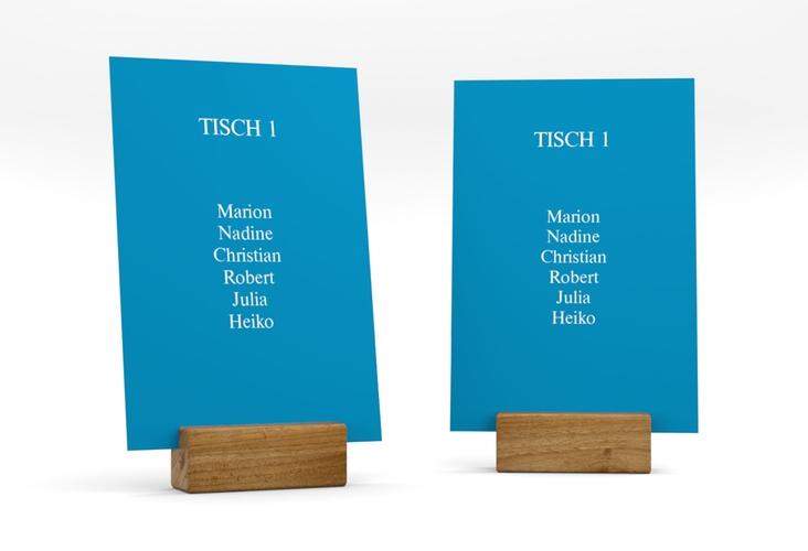 """Tischaufsteller Hochzeit """"Classic"""" Tischaufsteller blau"""