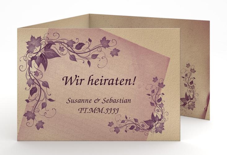 """Hochzeitseinladung """"Erfurt"""" A6 doppelt geklappt"""