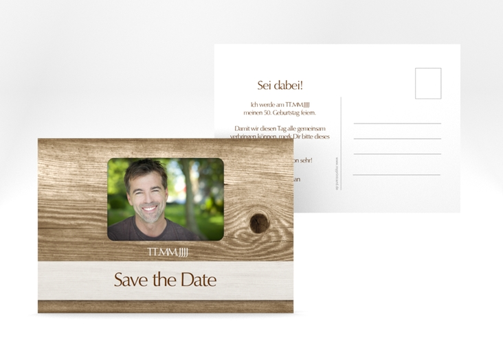 "Save the Date-Postkarte ""Michael/Michaela"" A6 Postkarte"