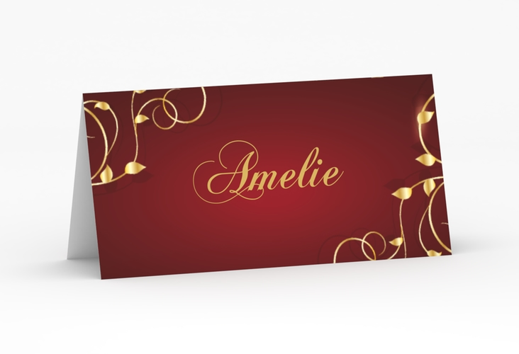 """Tischkarte Hochzeit """"Eternity"""" Tischkarten rot"""