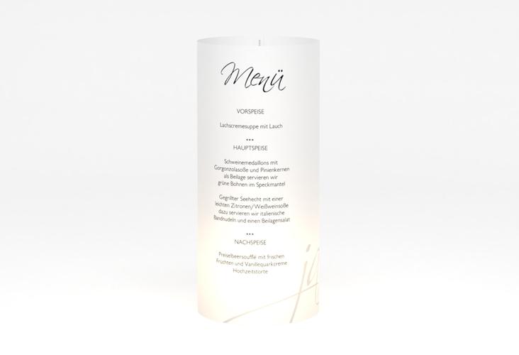 """Windlicht Menü Hochzeit """"Clarity"""" Windlicht"""