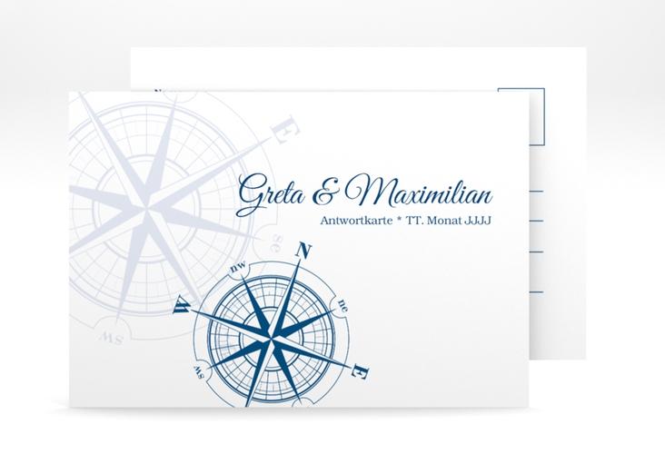 """Antwortkarte Hochzeit """"Windrose"""" A6 Postkarte"""