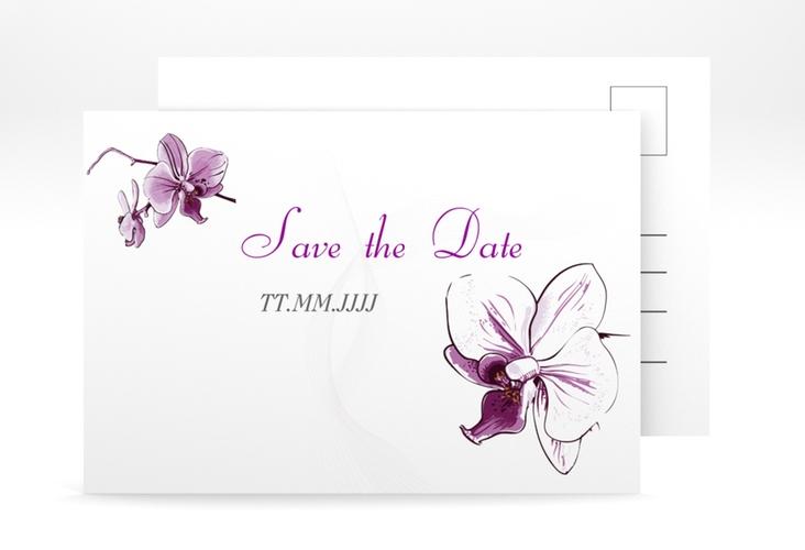 """Save the Date-Postkarte """"Modena"""" A6 Postkarte weiss"""