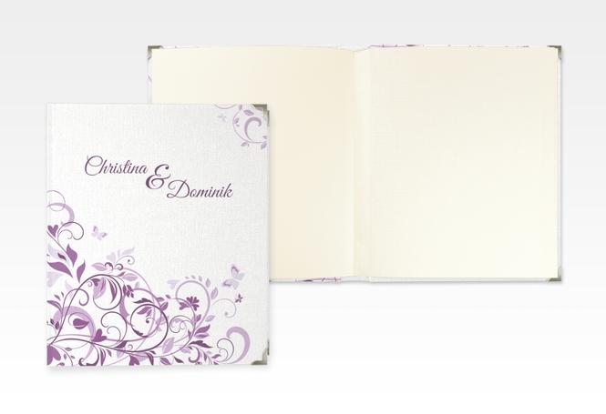 """Hochzeitsalbum """"Lilly"""" 21 x 25 cm lila"""