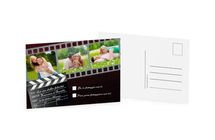 Biglietti risposta matrimonio collezione Rieti A6 Postkarte