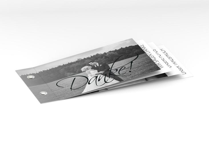 """Danksagungskarte Hochzeit """"Clarity"""" Booklet"""