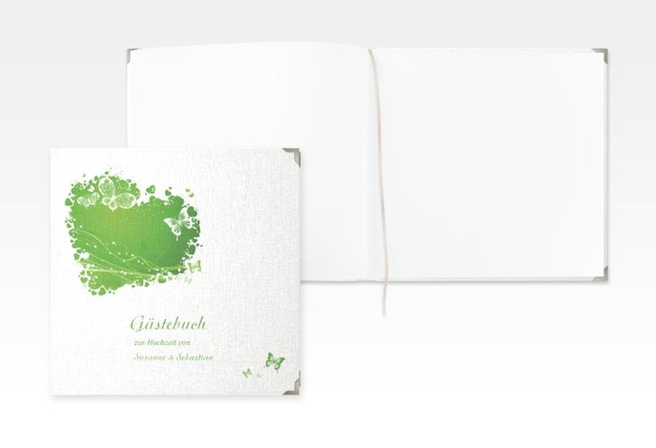 """Gästebuch Selection Hochzeit """"Mailand"""" Leinen-Hardcover gruen"""