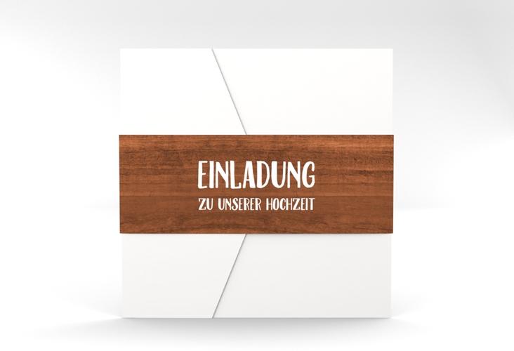 """Hochzeitseinladung """"Landliebe"""" Pocketfold"""