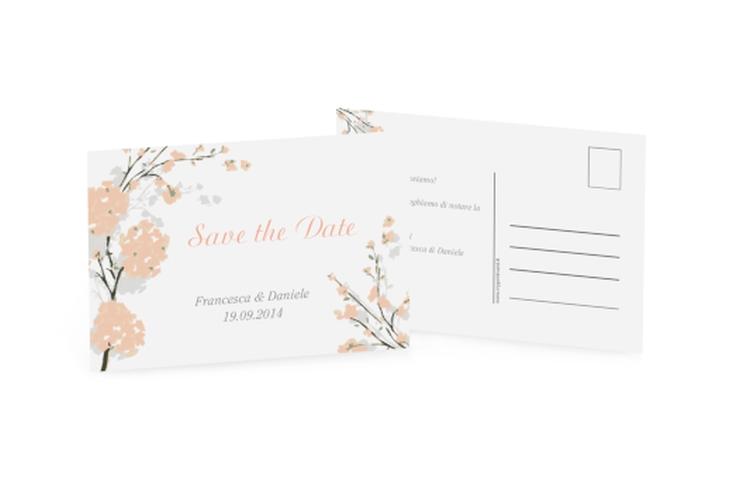 Biglietti Save the Date collezione Salerno A6 Postkarte arancione