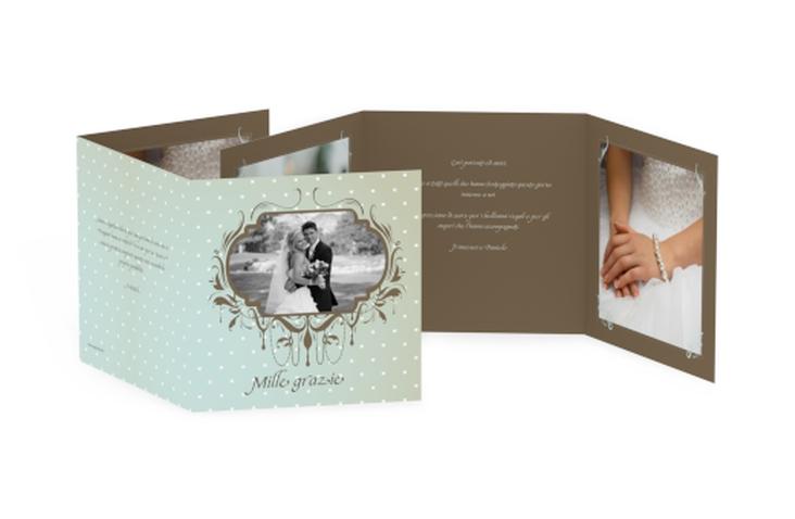 Ringraziamenti matrimonio collezione Ferrara Quadr. Karte doppelt