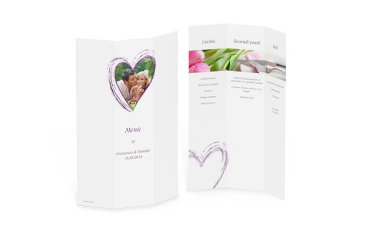 Menù matrimonio collezione Tolone DIN A4 Wickelfalz lila
