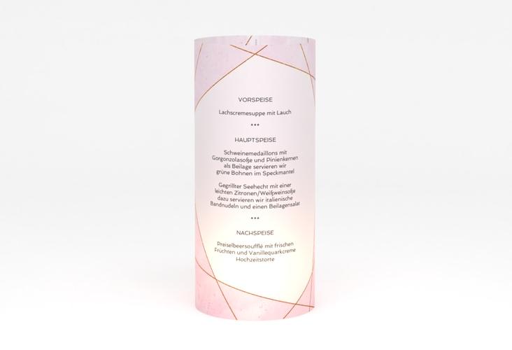 """Windlicht Menü Hochzeit """"Asymmetry"""" Windlicht rosa"""