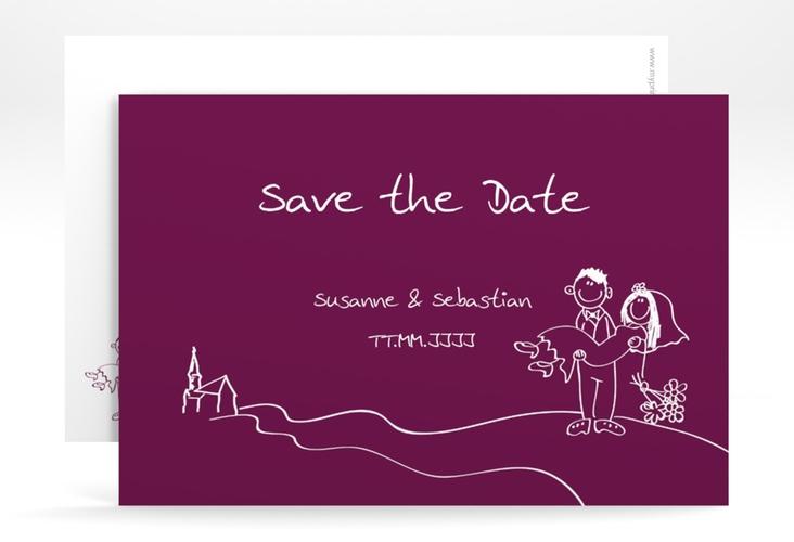 "Save the Date-Karte Hochzeit ""Pisa"" A6 quer"