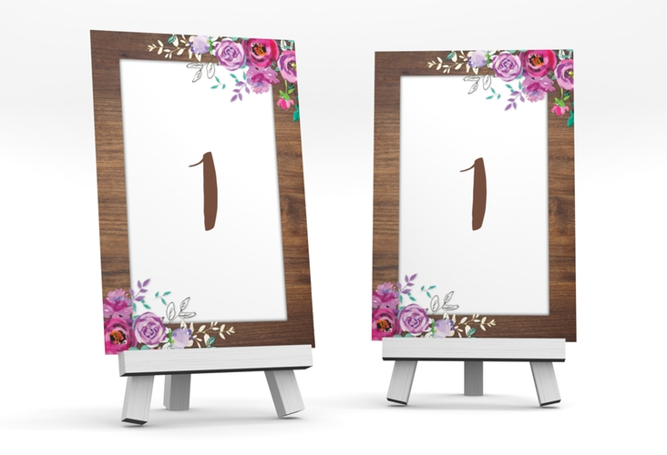 """Tischnummer Hochzeit """"Flourish"""" Tischaufsteller"""