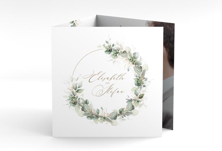 """Danksagungskarte Hochzeit """"Selvatica"""" Quadr. Karte doppelt weiss"""
