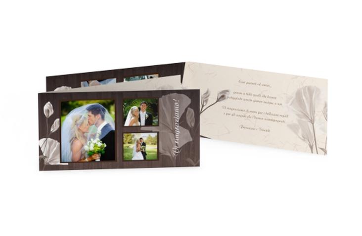 Ringraziamenti matrimonio collezione Barcelona DIN lang Klappkarte