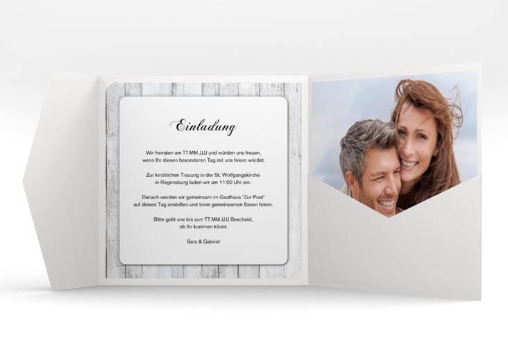 """Hochzeitseinladung """"Herz"""" Pocketfold"""
