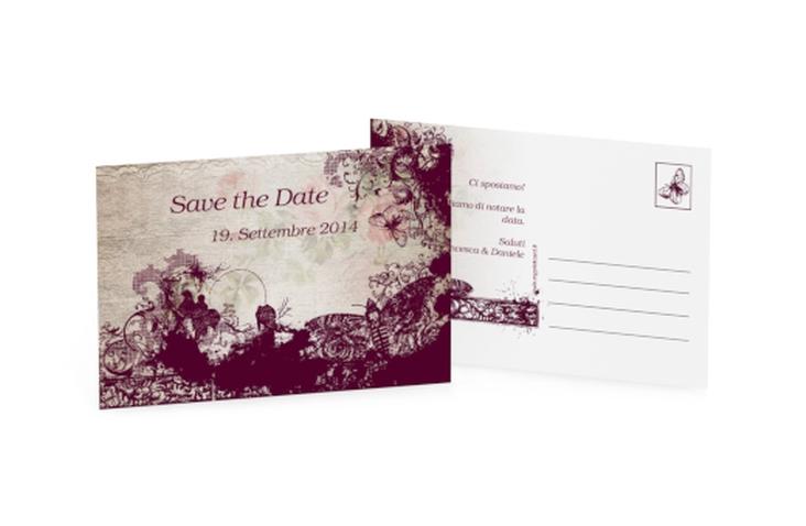 Biglietti Save the Date collezione Bordeaux A6 Postkarte