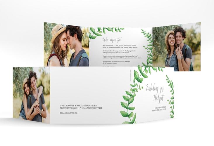 """Hochzeitseinladung """"Botanic"""" A6 doppelt geklappt"""