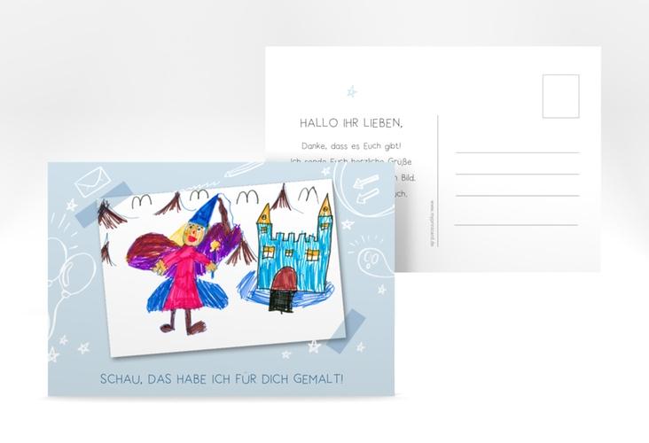 "Grußkarte ""Lieblingsbild"" A6 Postkarte blau"