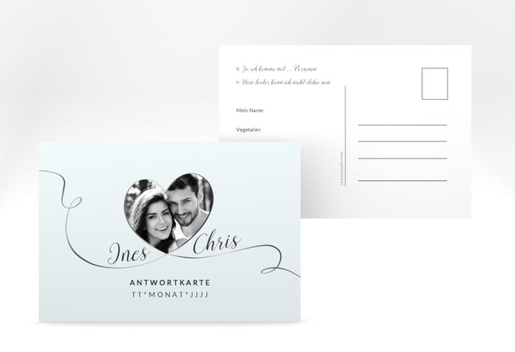"""Antwortkarte Hochzeit """"Dolce"""" A6 Postkarte tuerkis"""