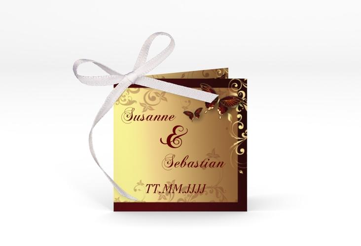 """Geschenkanhänger Hochzeit """"Toulouse"""" Geschenkanhänger 10er Set rot"""