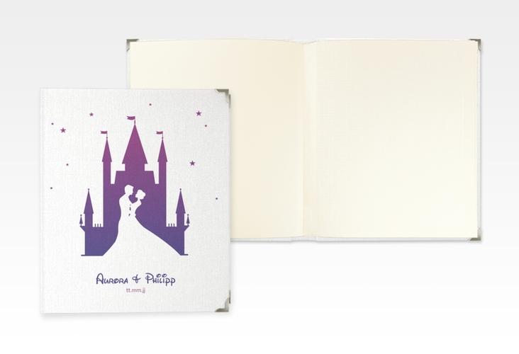 "Hochzeitsalbum ""Castle"" 21 x 25 cm lila"