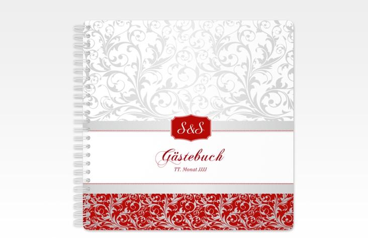 "Gästebuch Hochzeit ""Latina"" Ringbindung rot"