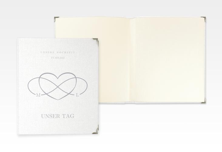 """Hochzeitsalbum """"Infinity"""" 21 x 25 cm grau"""