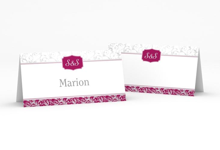 """Tischkarte Hochzeit """"Latina"""" Tischkarten pink"""