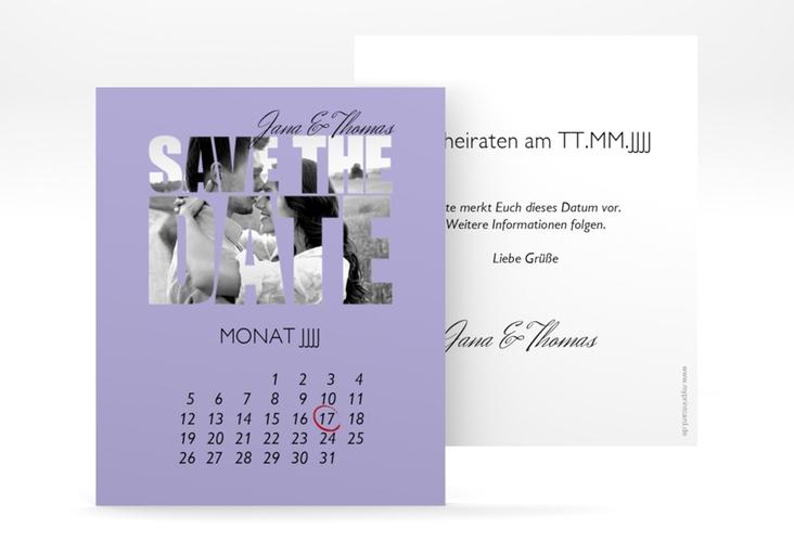 "Save the Date-Kalenderblatt ""Letters"" Kalenderblatt-Karte"