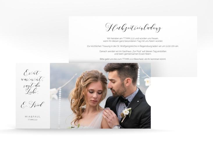 """Hochzeitseinladung """"Paperlove"""" Einsteckkarte"""
