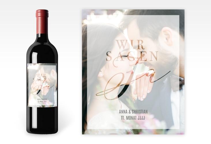 """Weinetikett zur Hochzeit """"Amazing"""" Etikett Weinflasche 4er Set"""