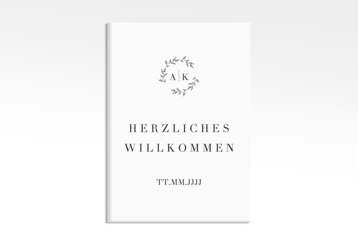 "Willkommensschild Leinwand ""Filigrana"" 50 x 70 cm Leinwand"