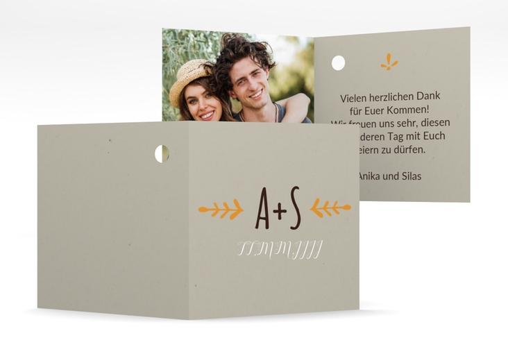 """Geschenkanhänger Hochzeit """"Eden"""" Geschenkanhänger 10er Set orange"""