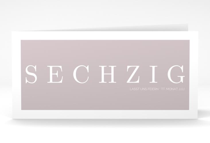 """Einladungskarte """"Schlicht"""" DIN lang Klappkarte grau"""