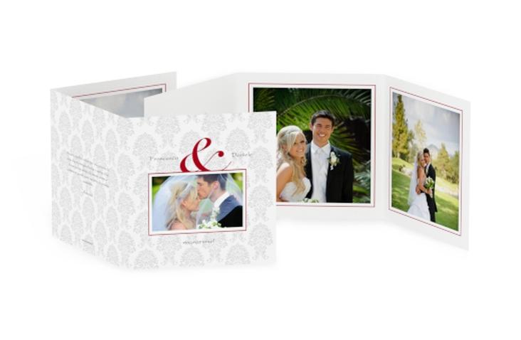 Ringraziamenti matrimonio collezione Nantes Quadr. Karte doppelt rosso