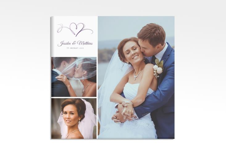 """Hochzeitscollage Leinwand """"Envie"""" 30 x 30 cm Leinwand lila"""
