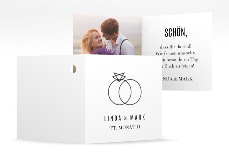 """Geschenkanhänger Hochzeit """"Rings"""" Geschenkanhänger 10er Set weiss"""