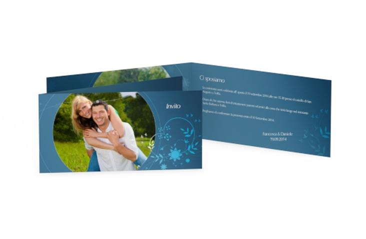 Inviti matrimonio collezione Siena DIN lang Klappkarte blu