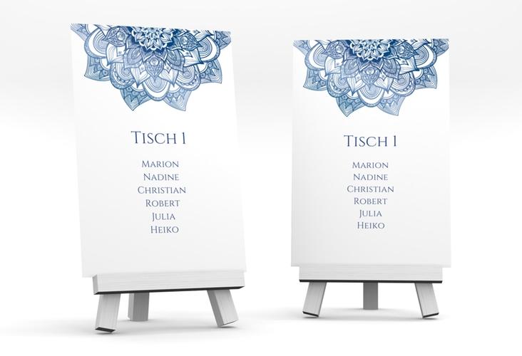 """Tischaufsteller Hochzeit """"Delight"""" Tischaufsteller blau"""