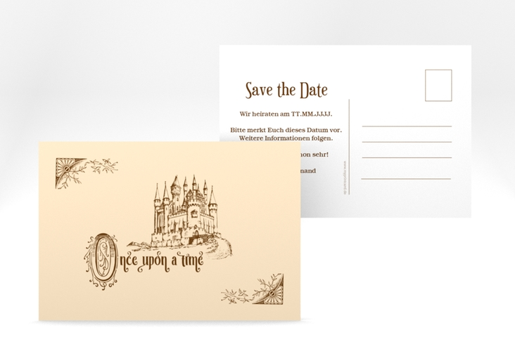 "Save the Date-Postkarte ""Storybook"" A6 Postkarte"