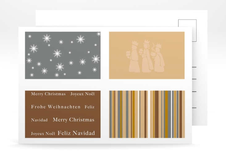 "Weihnachtskarte ""Morgenland"" A6 Postkarte"