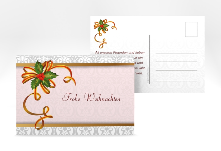 """Weihnachtskarte """"Mistelzweig"""" A6 Postkarte"""