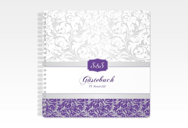 "Gästebuch Hochzeit ""Latina"" Ringbindung lila"