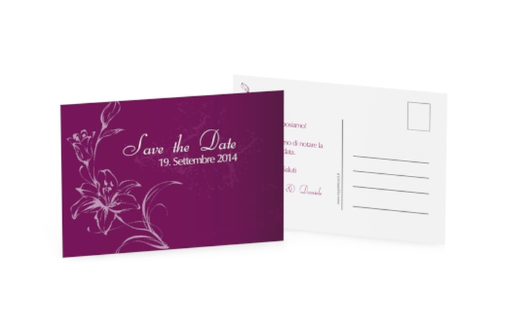 Biglietti Save the Date collezione Lille A6 Postkarte